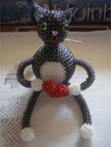 Объемный кот из бисера своими руками