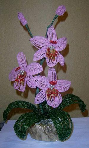 Орхидея из бисера Орхидея из