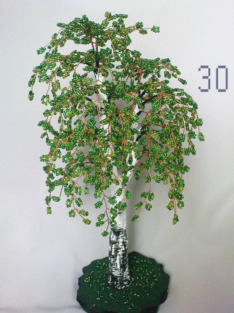 Мастер класс дерево из бисера своими руками