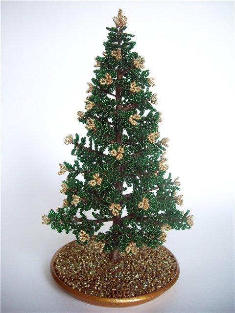 Дерево зимнее из бисера своими руками