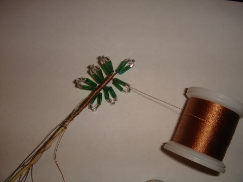 схема плетения елочки из бисера