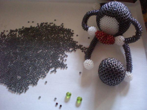 сердце из бисера схема плетения для начинающих - Искусство бисероплетения.
