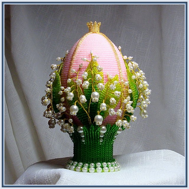 Яйцо пасхальное бисера мастер класс фото #2
