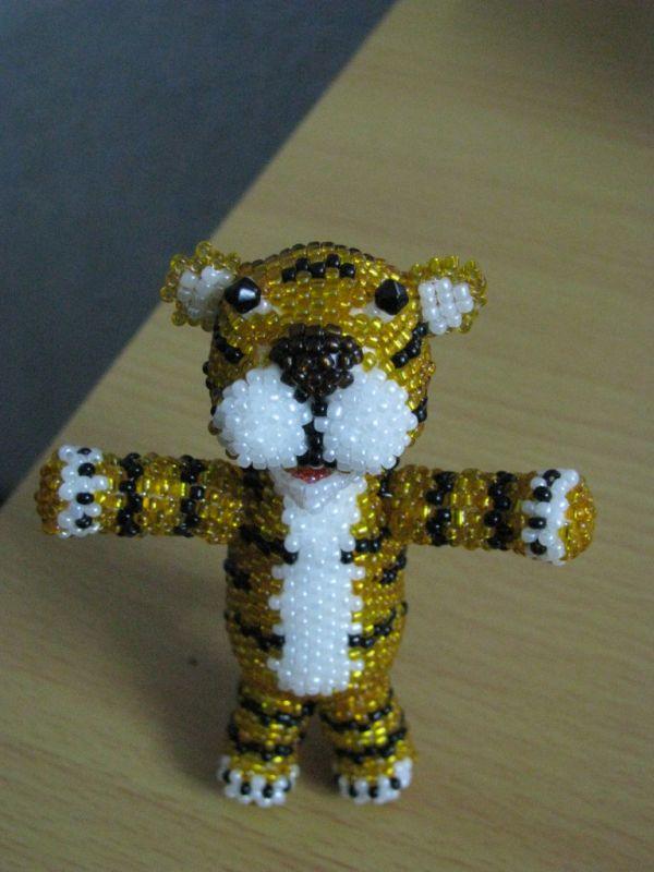 милого тигренка из бисера!