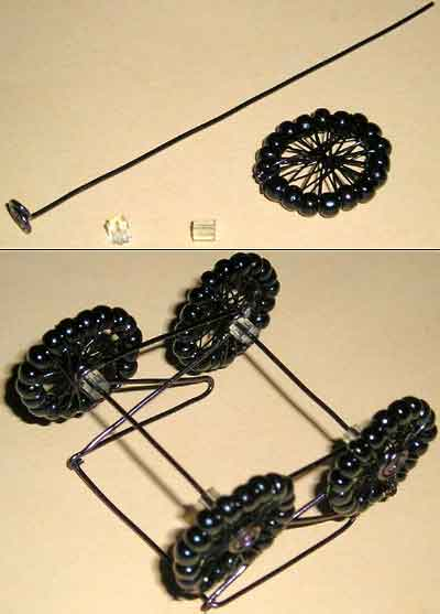 коляска из бисера
