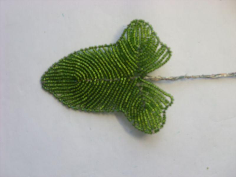 Мастер-класс: Листик калы из бисера.
