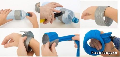 Браслет своими руками из пластиковой бутылки