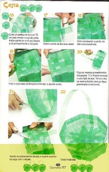 Как сплести коробку из пластиковых бутылок своими руками