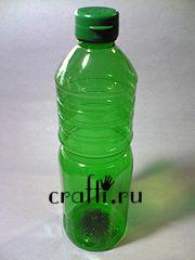 интересная поделка из пластиковых бутылок