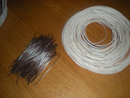 Начнем плетение корзины.