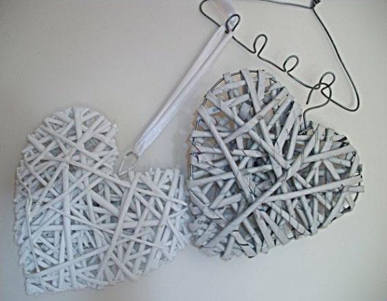 Плетение из трубочек сердце