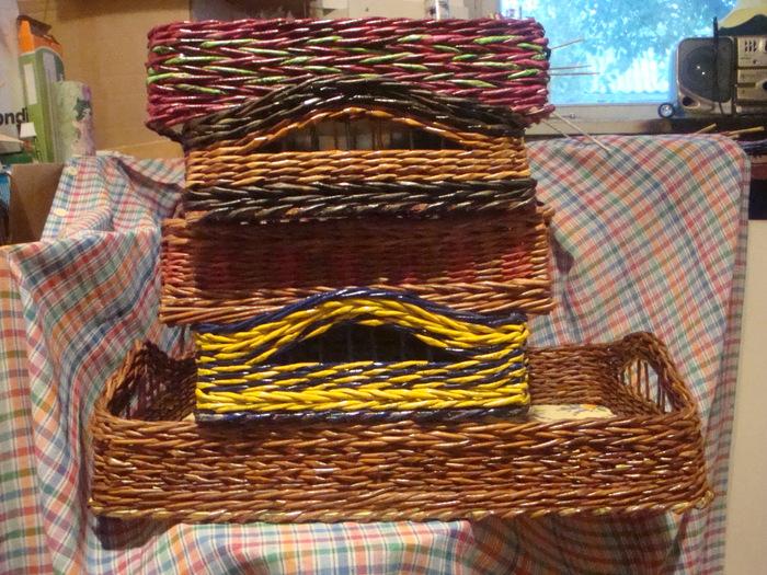 способы плетения из газет