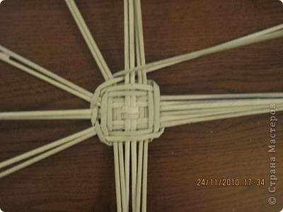 плетение дна корзинки