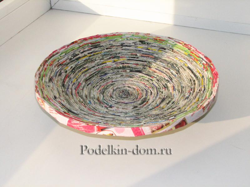 Как из газеты сделать тарелку из