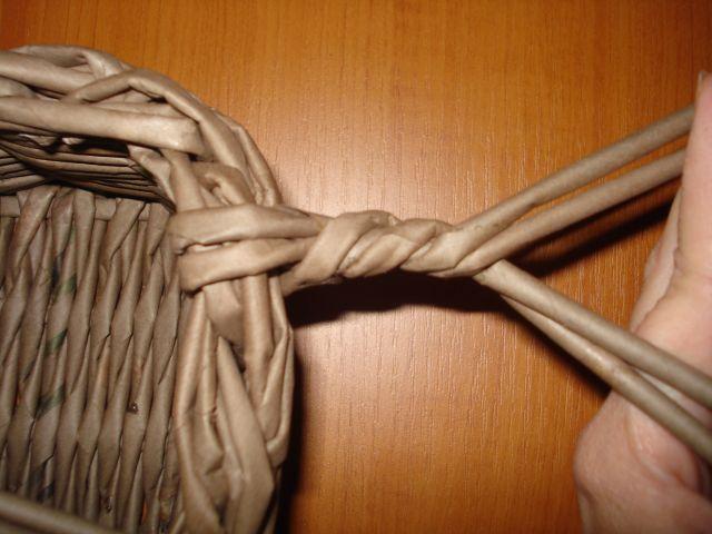 Плетение из газетных трубочек ручки мастер класс