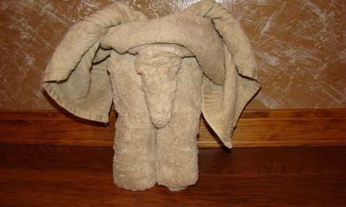 фигура из полотенец Слон