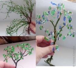 Автор Солька, почерпнувшая вдохновение от деревьев из бисера.