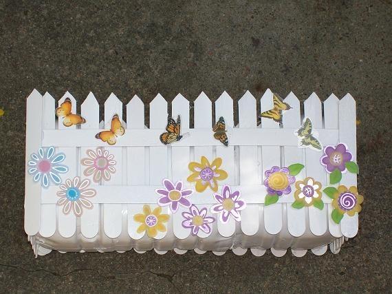Забор из бумаги для поделки своими руками 53