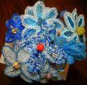 букет цветов из бисера