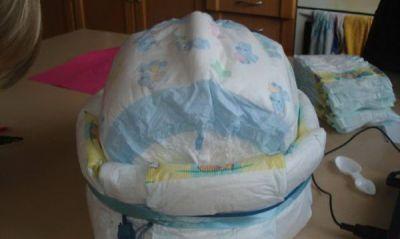 коляска торт из памперсов своими руками