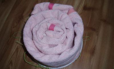 торт из полотенец Розовые мечты