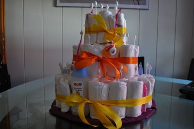 торт из памперсов своими руками