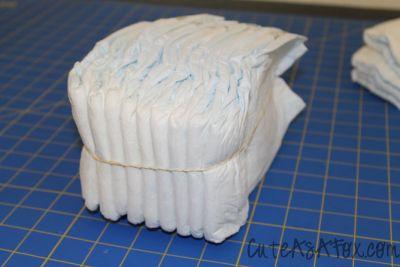 торт из памперсов Люлька