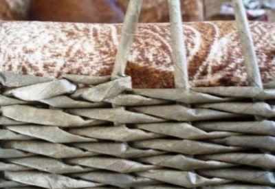 Плетение стула-пуфика