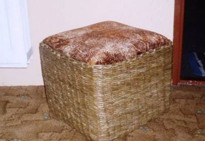 плетение стула из газет