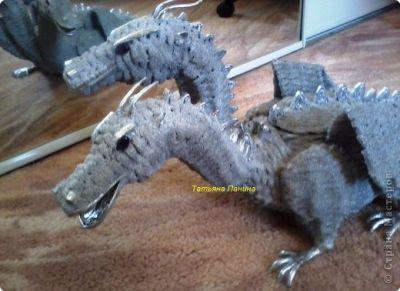 плетение дракона из бумаги