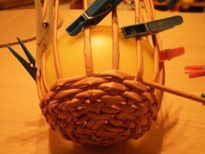 плетение шляпы из газет