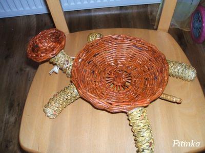 урок плетения из газет Черепаха