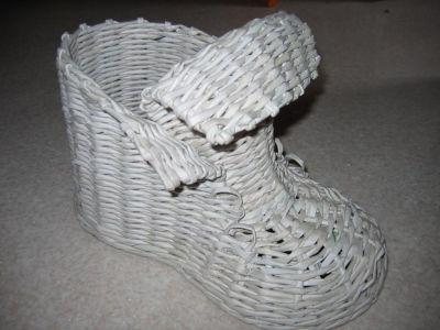 ботинки из газет