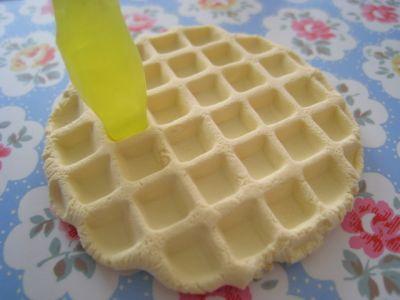Еда из полимерной глины - Вафли