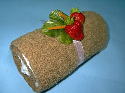 рулет торт из полотенец
