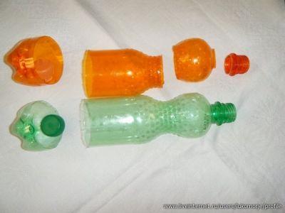 розы из пластиковых бутылок