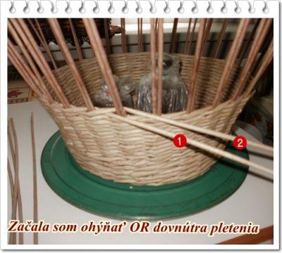 плетение корзины из газет
