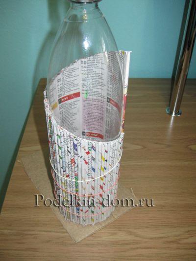 ваза из газет
