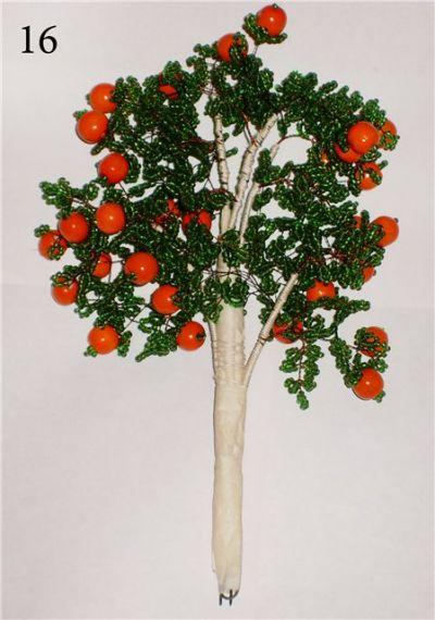 Изготовление красивого дерева из бисера