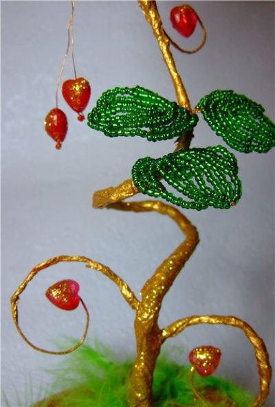 Дерево любви из бисера: мастер класс